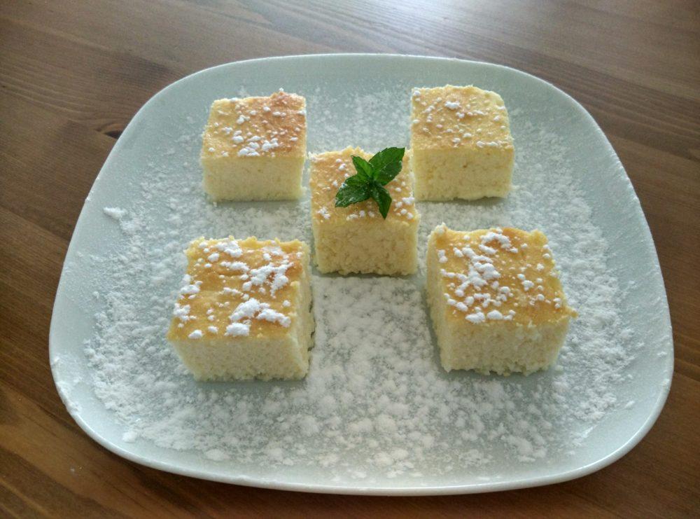 Bezlepkový tvarohový dort