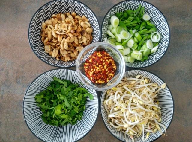 Ingredience na Pad Thai