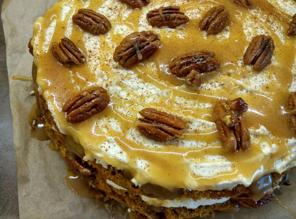 Dýňový dort s pekany