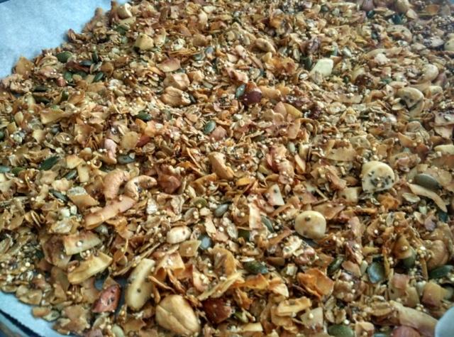 Domácí kokosová granola
